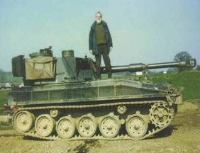 Dave on a tank